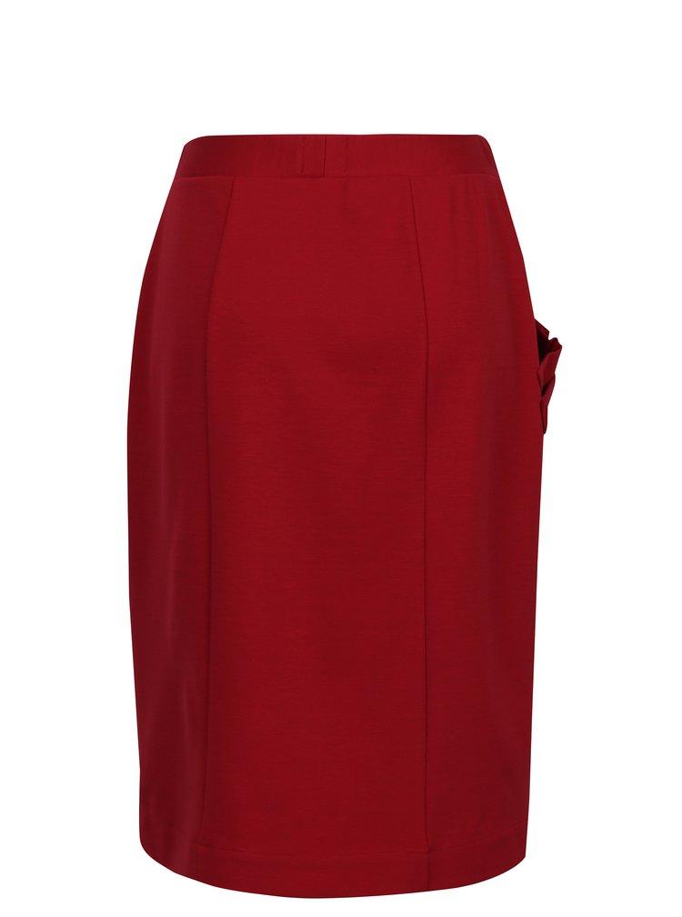 Červená sukně s kapsou Jana Minaříková