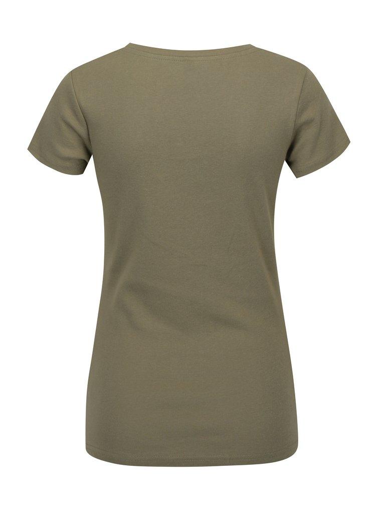 Khaki tričko s krátkým rukávem Madonna