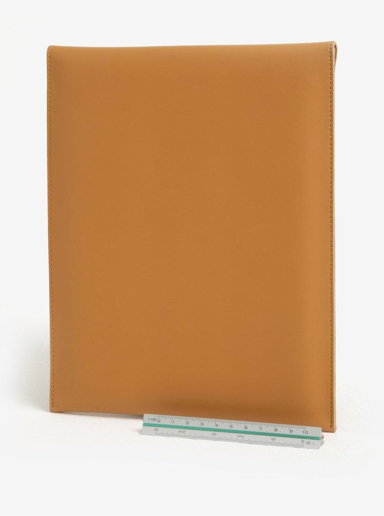 Husa maro din piele pentru tableta - Lipa