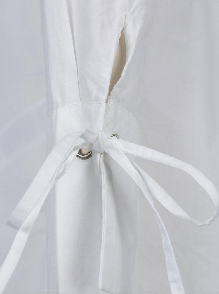 Bílá dlouhá košile VERO MODA Juljane
