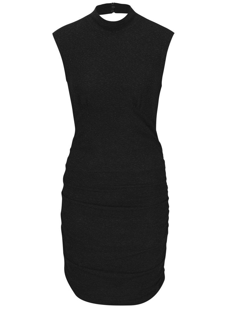Černé třpytivé šaty bez rukávů VERO MODA Funk