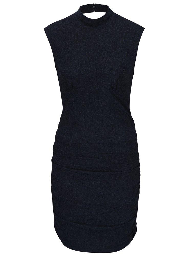 Tmavě modré třpytivé šaty bez rukávů VERO MODA Funk