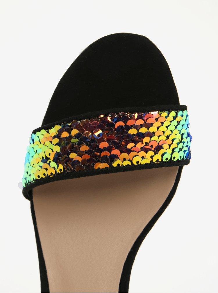 Černé sandálky na podpatku s flitry ALDO Victoriaa