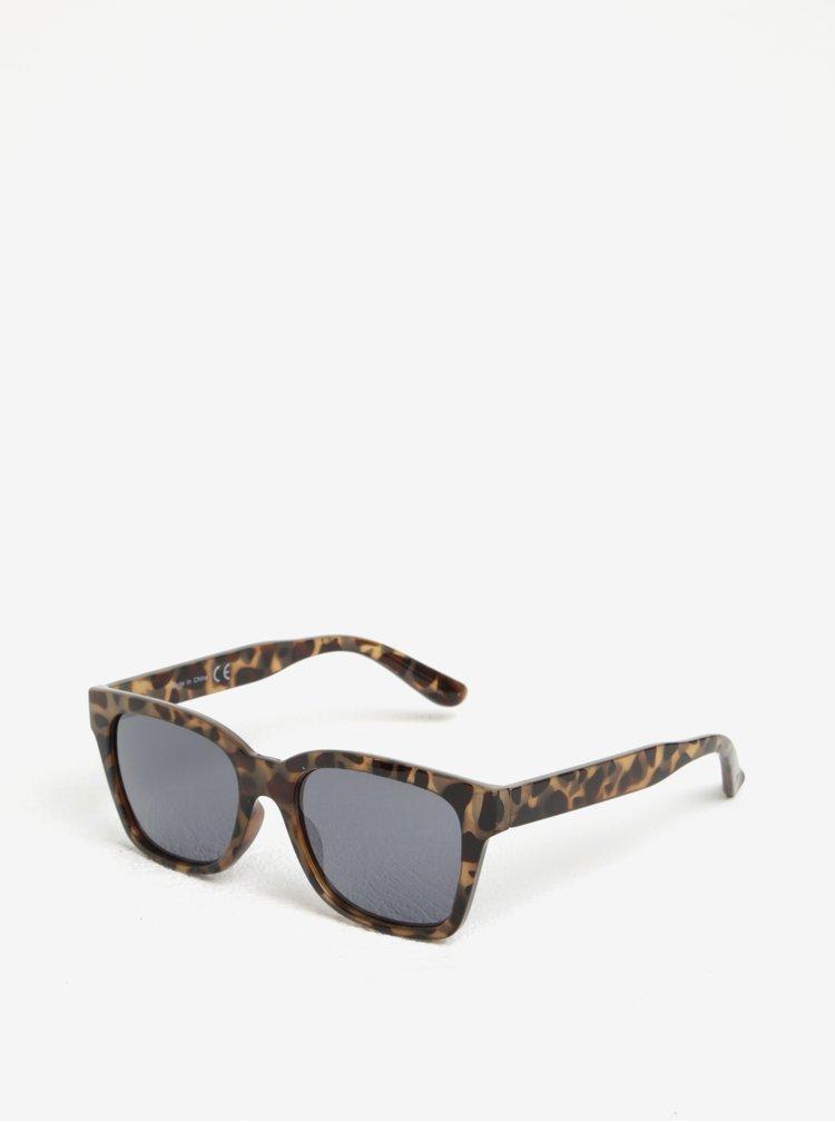 Hnědé vzorované sluneční brýle MISSGUIDED