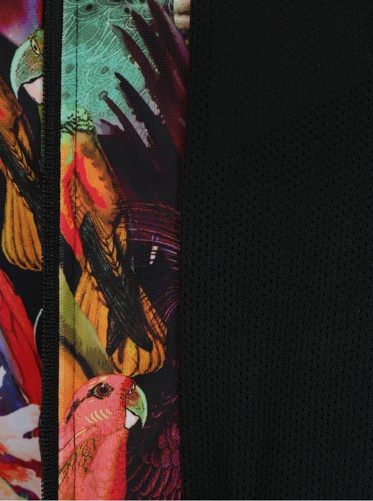 Jacheta bomber neagra cu print papagal adidas Originals Passaredo