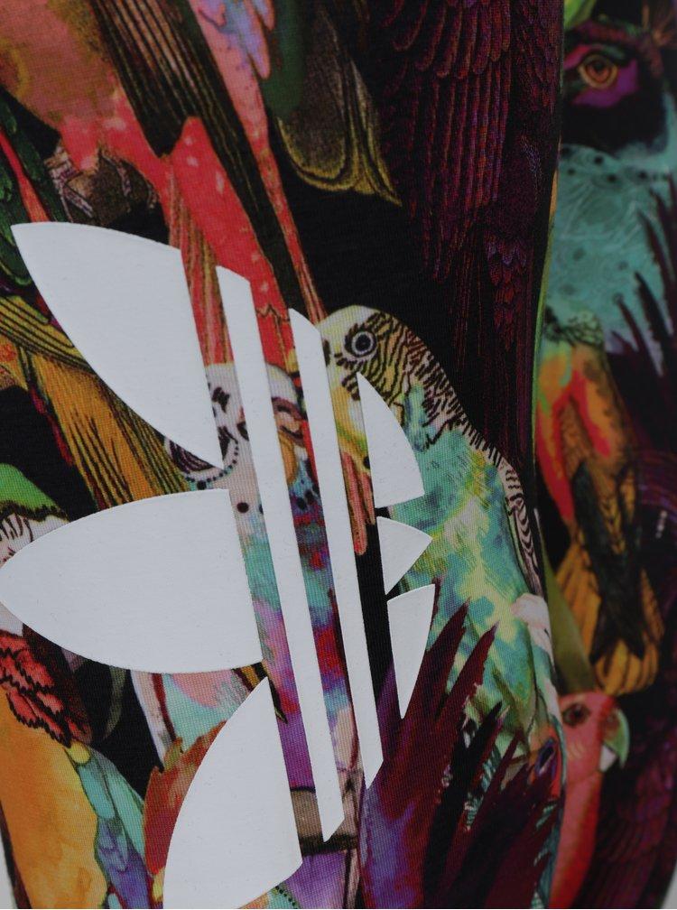 Colanti negri cu print papagal - adidas Originals Passaredo