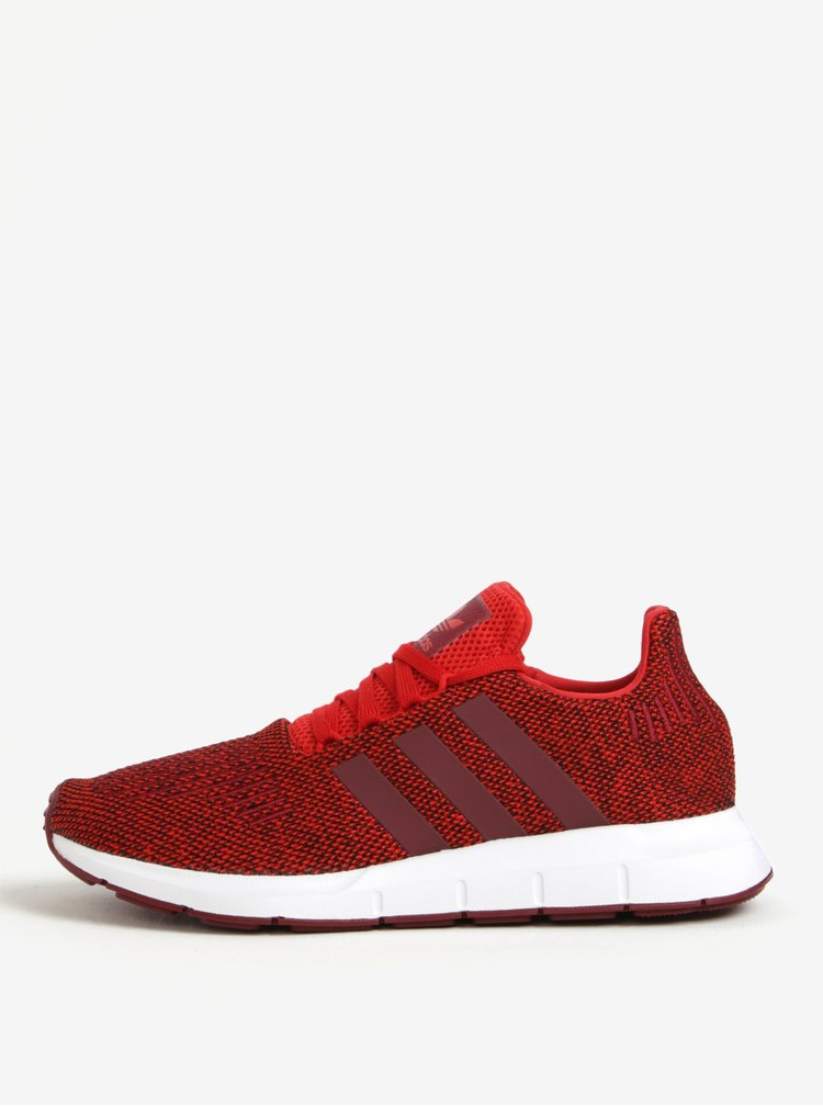 Pantofi sport rosii din material textil pentru barbati adidas Originals Swift Run