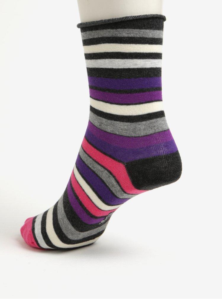 Sada dvou párů dámských ponožek v tmavě šedé a růžové barvě JELL