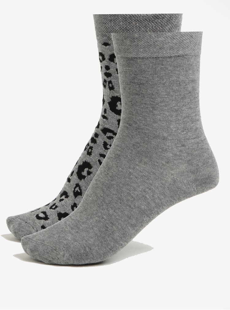 Sada dvou párů dámských ponožek v šedé barvě JELL