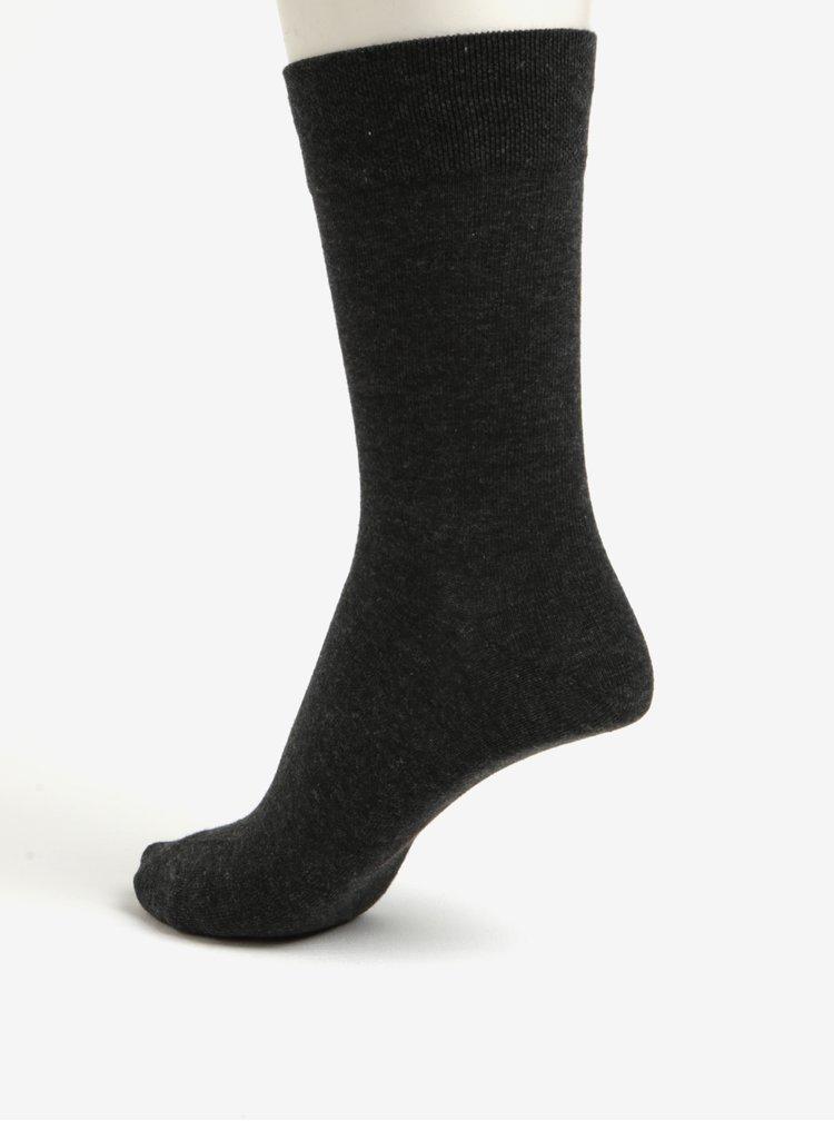 Súprava dvoch párov pánskych ponožiek v tmavosivej farbe JELL