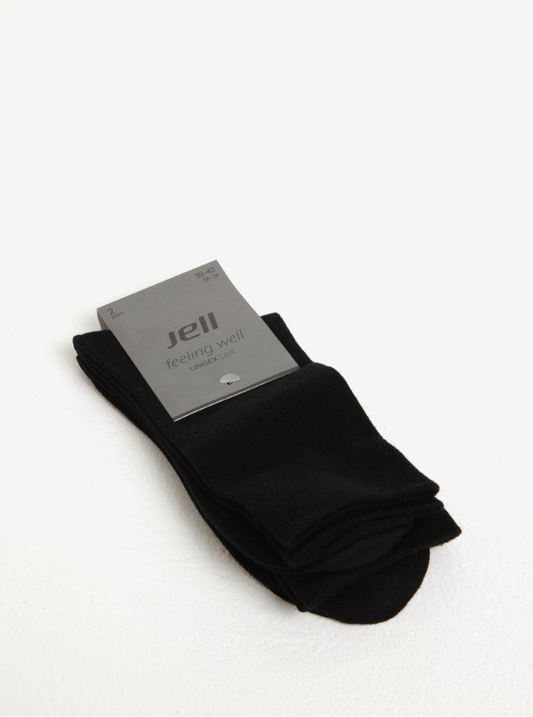 Sada dvou párů unisex ponožek v černé barvě JELL