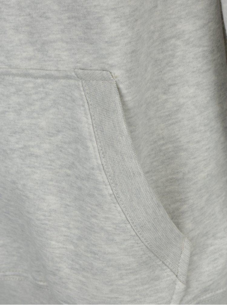 Bluza sport gri cu guler inalt si buzunar pentru barbati - s.Oliver