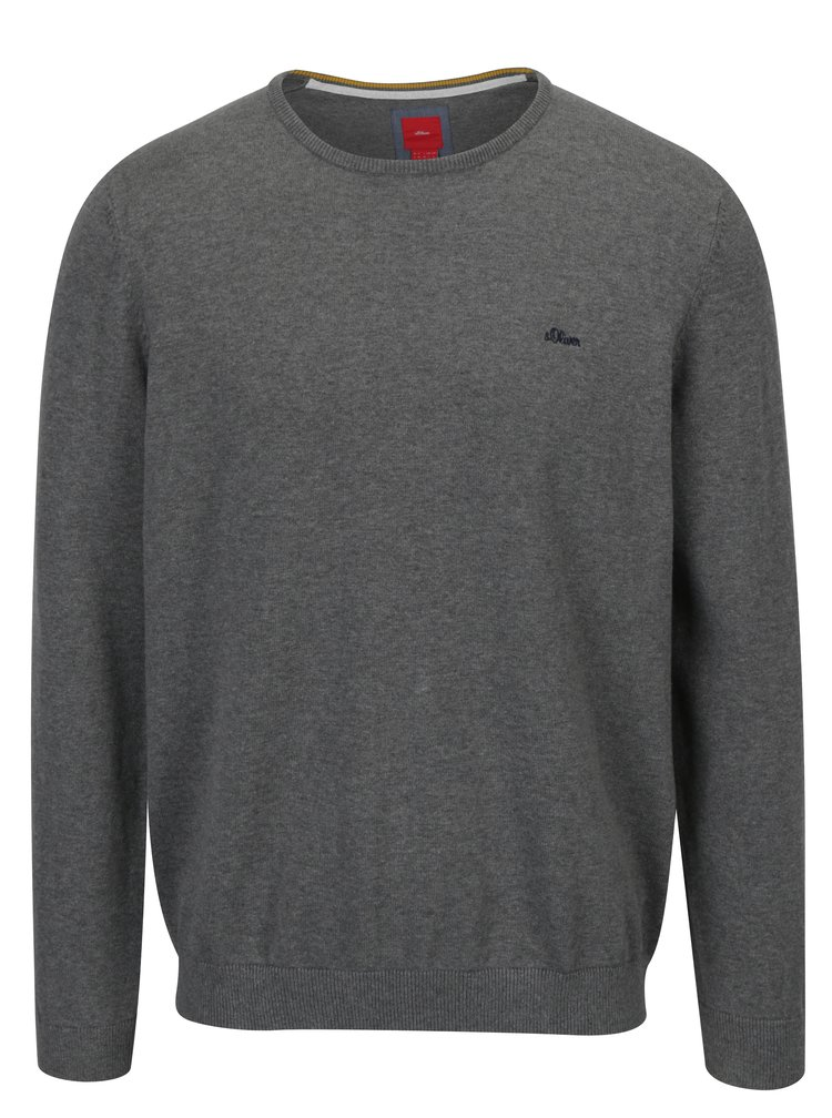Šedý pánský svetr s.Oliver