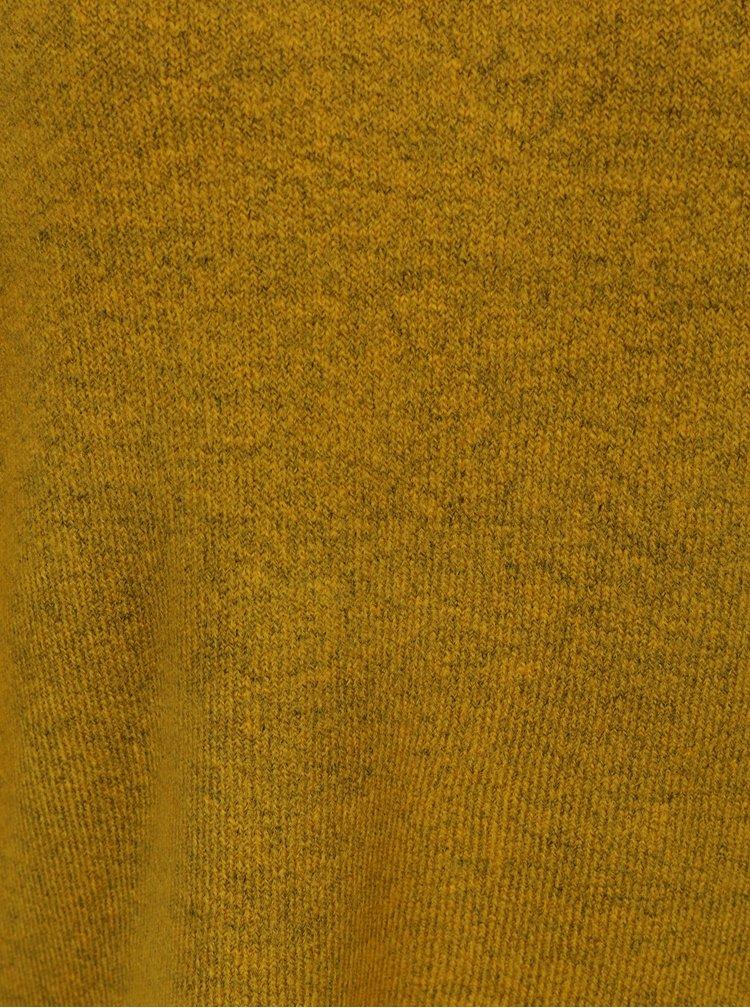 Pulover galben mustar melanj cu maneci raglan QS by s.Oliver