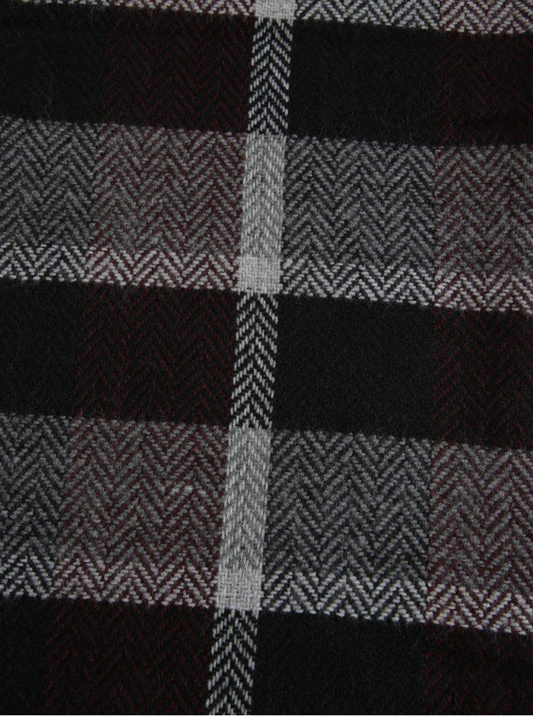 Fular negru&bordo in carouri pentru barbati s.Oliver