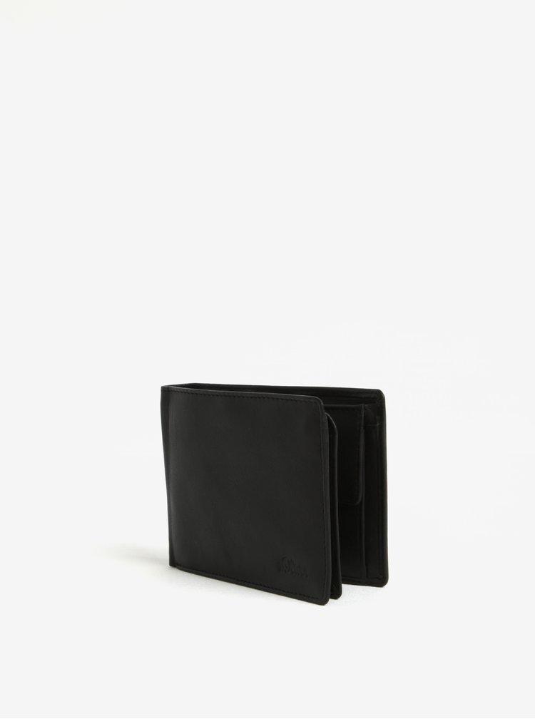 Černá pánská kožená peněženka s.Oliver