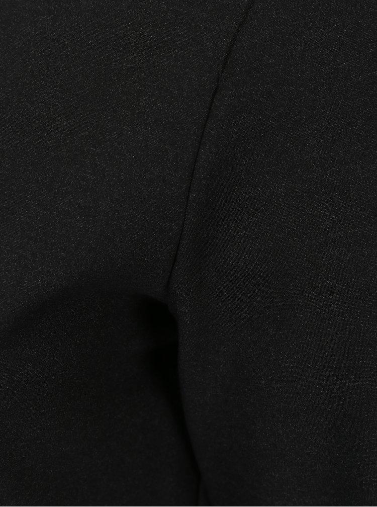Černé šaty s véčkovým výstřihem a 3/4 rukávem s.Oliver