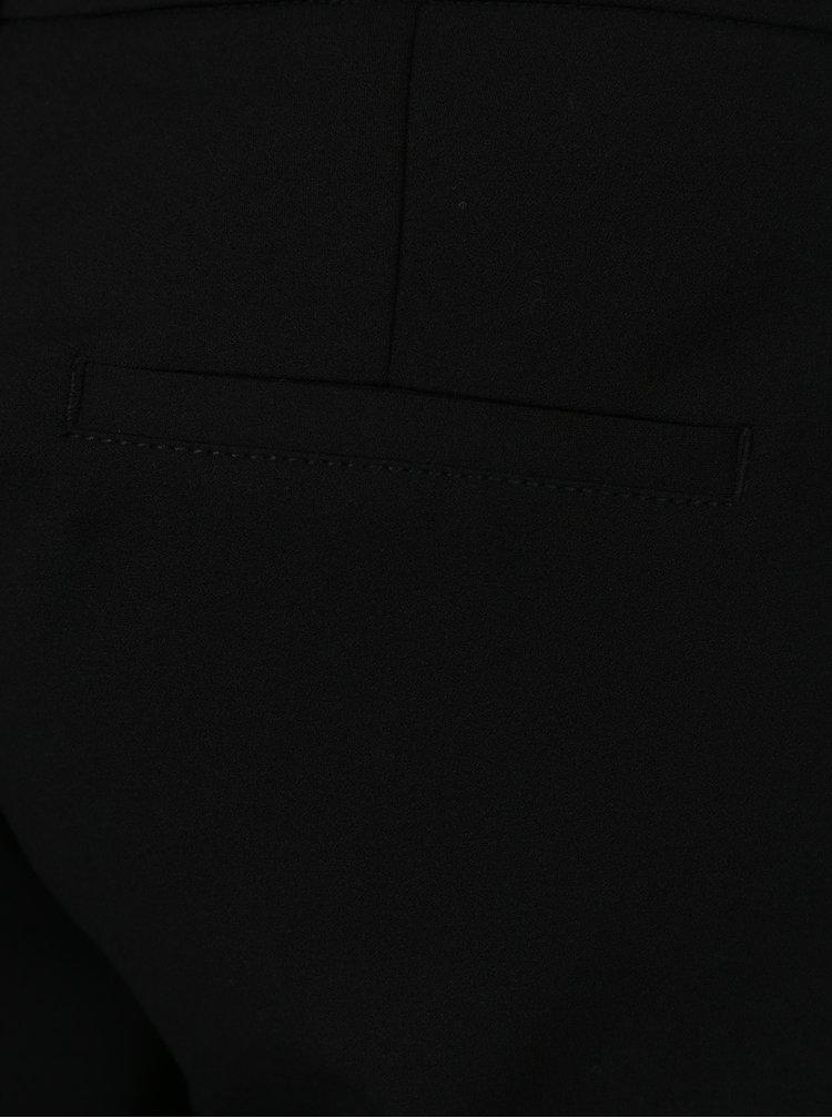 Černé dámské zkrácené kalhoty s puky s.Oliver