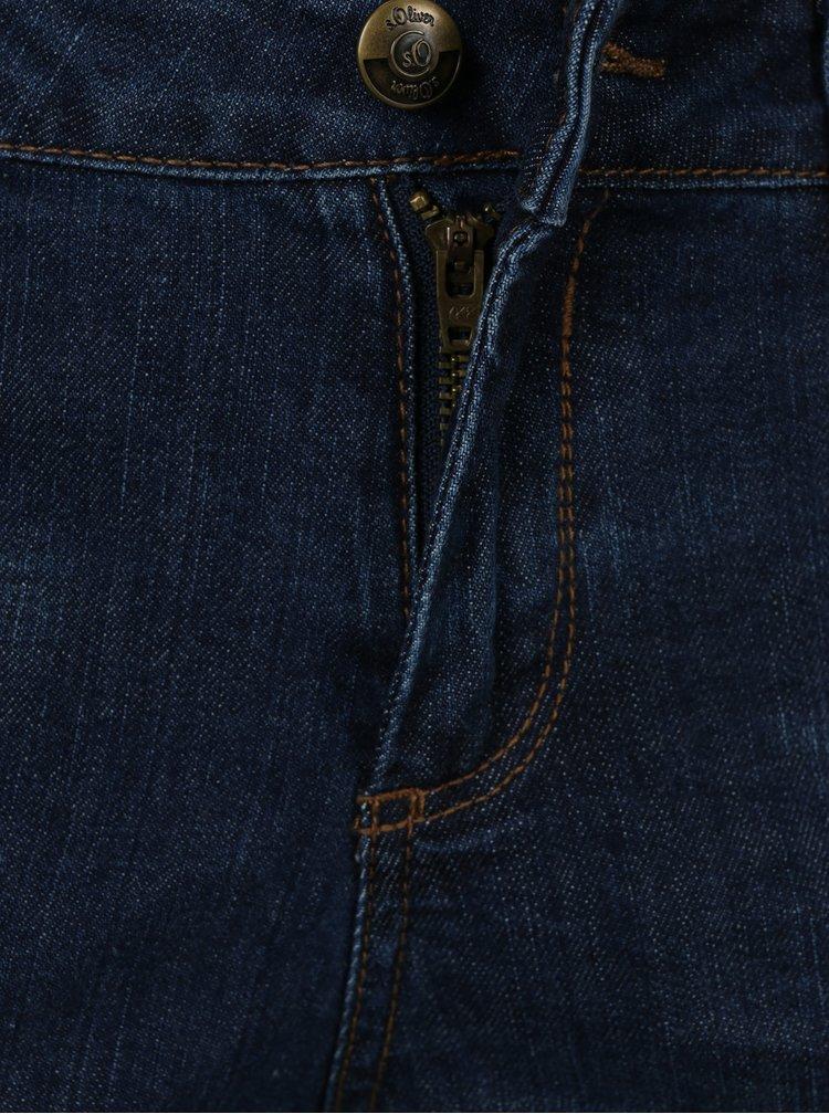 Modré dámské rovné regular fit džíny s.Oliver
