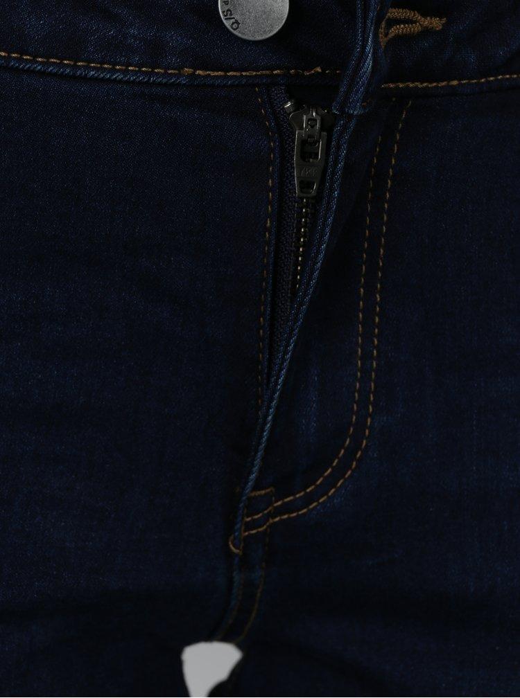 Blugi slim fit bleumarin cu talie medie QS by s.Oliver