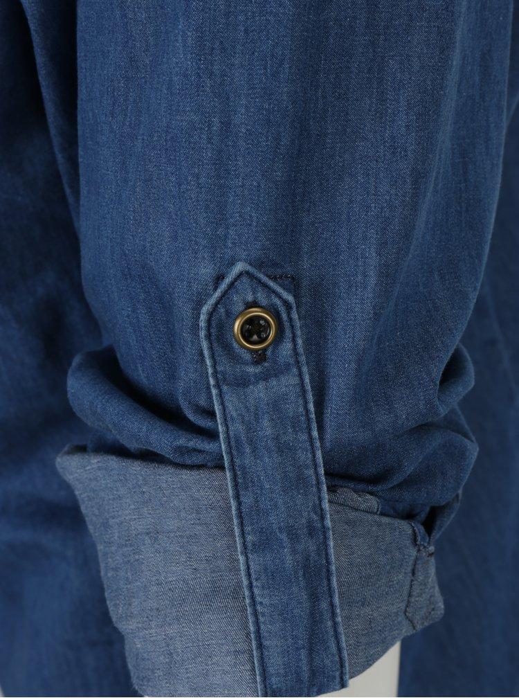 Modrá pánská džínová slim fit košile s.Oliver