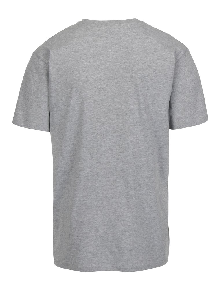 Tricou gri melanj cu logo -  VANS Classic