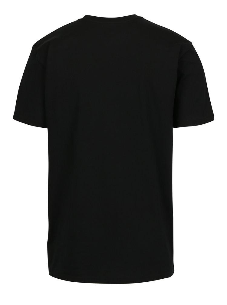 Tricou negru din bumbac cu logo pentru barbati - VANS Classic