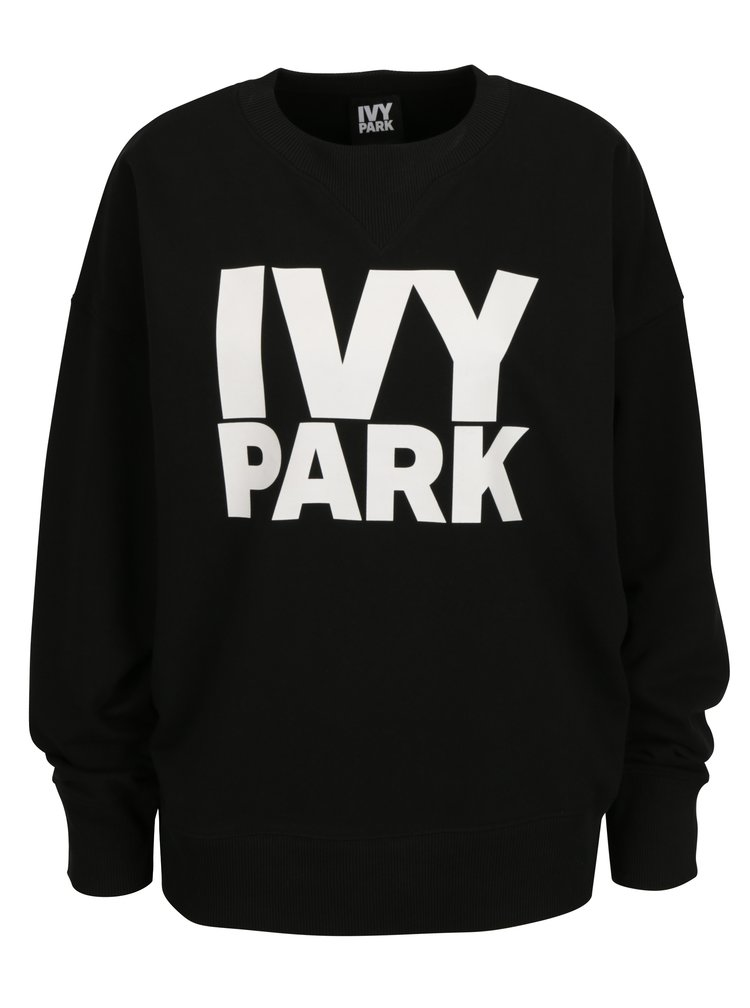 Čierna oversize mikina s potlačou Ivy Park