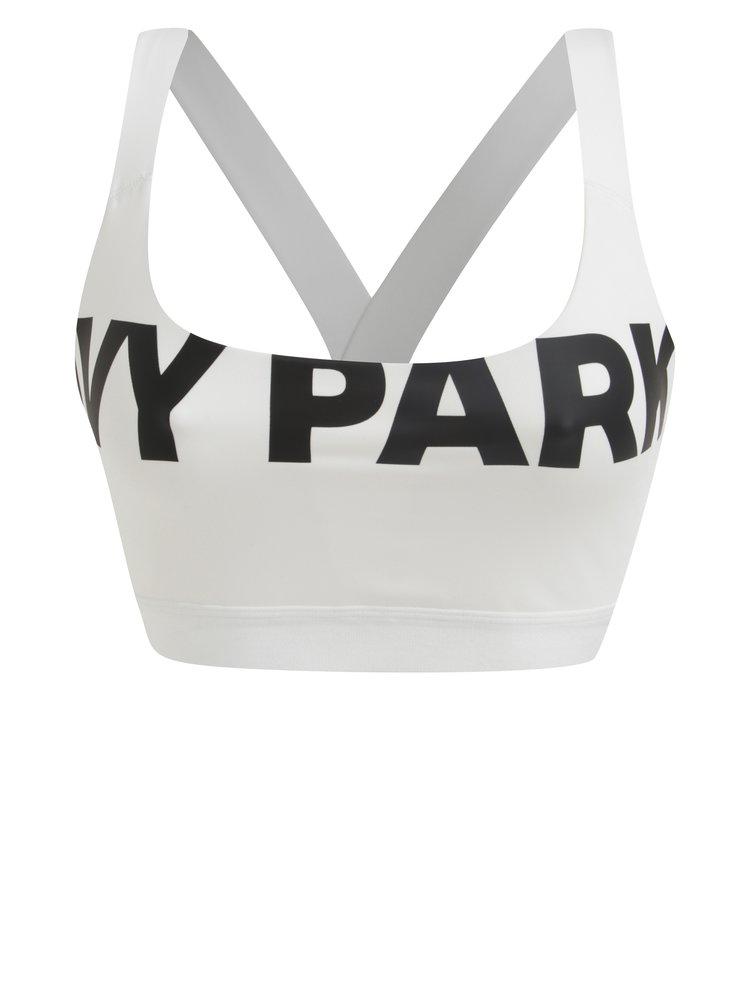 Bílá sportovní podprsenka s potiskem Ivy Park