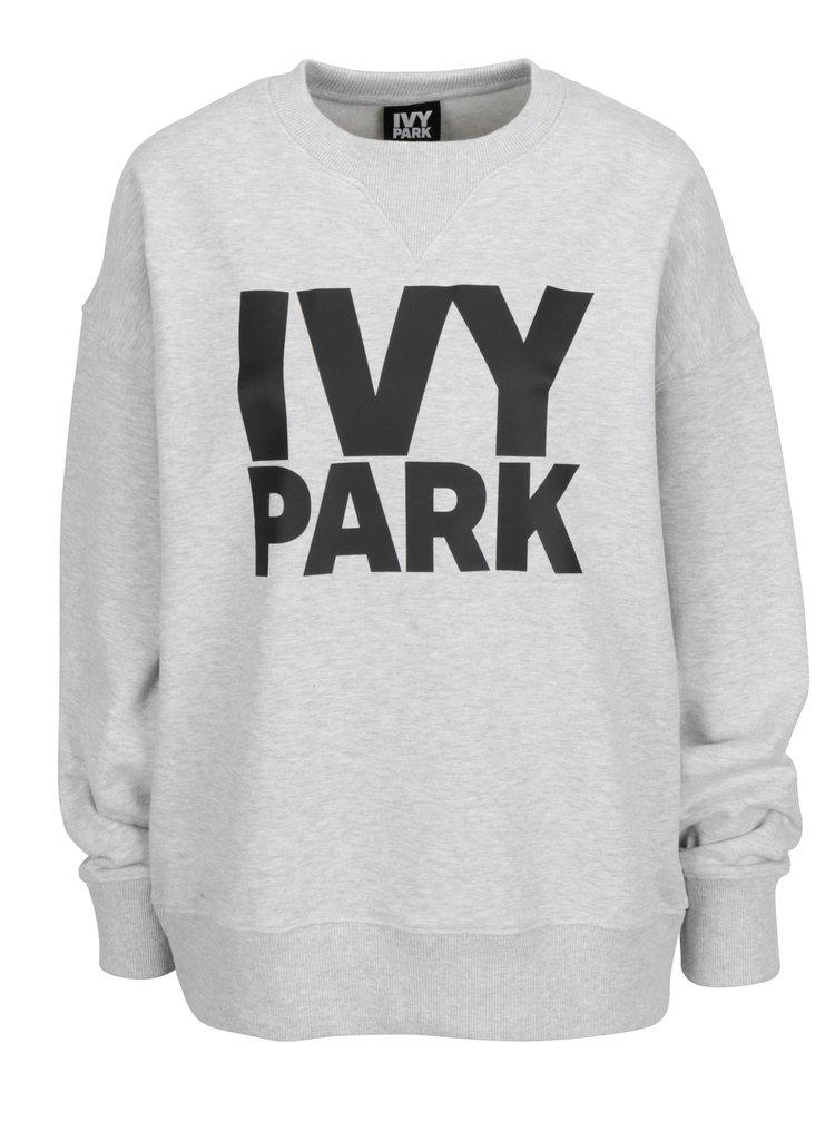 Šedá oversize mikina s potiskem Ivy Park