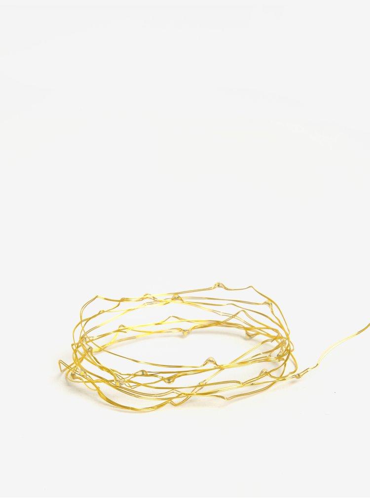 LED světelný řetěz ve zlaté barvě BUTLERS 20L