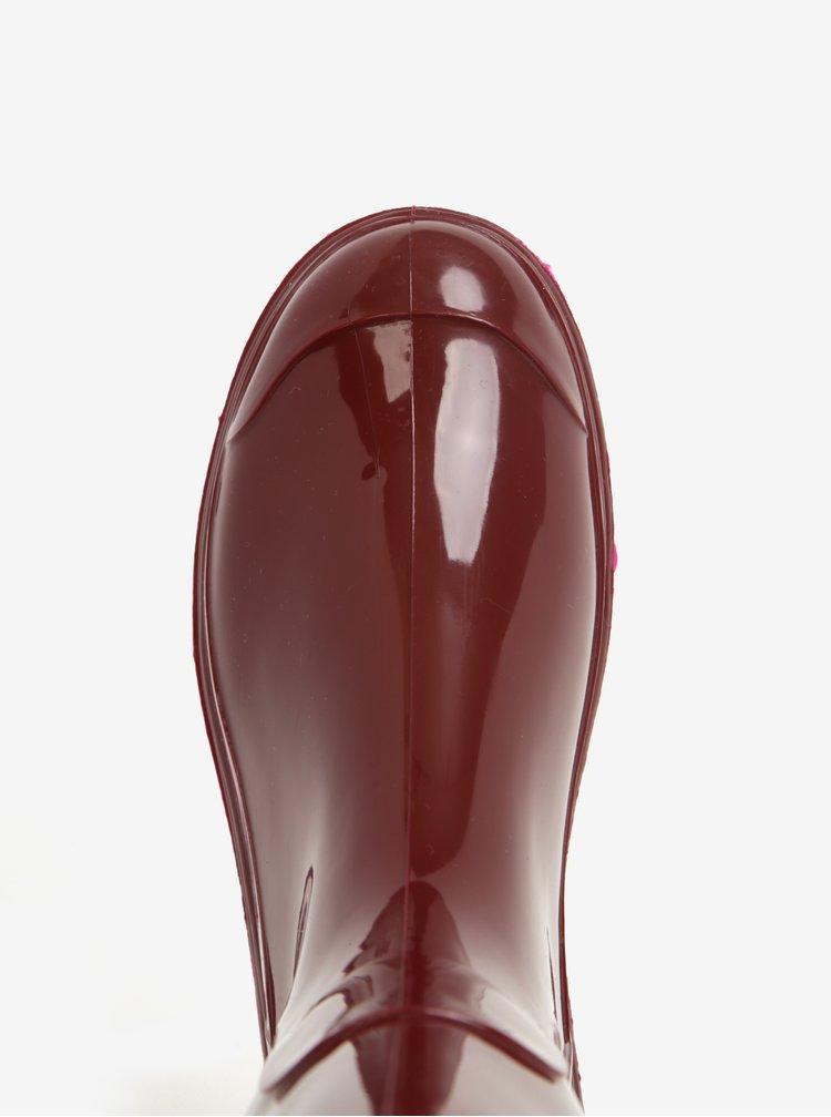 Cizme de ploaie bordo pentru femei Oldcom Classic