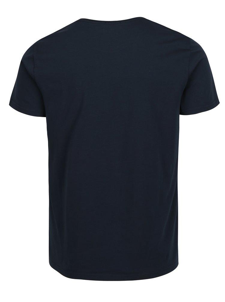 Tmavě modré pánské slim fit tričko s potiskem Pepe Jeans Original