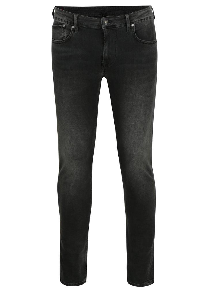 Šedé pánské skinny džíny s nízkým pasem Pepe Jeans Finsbury