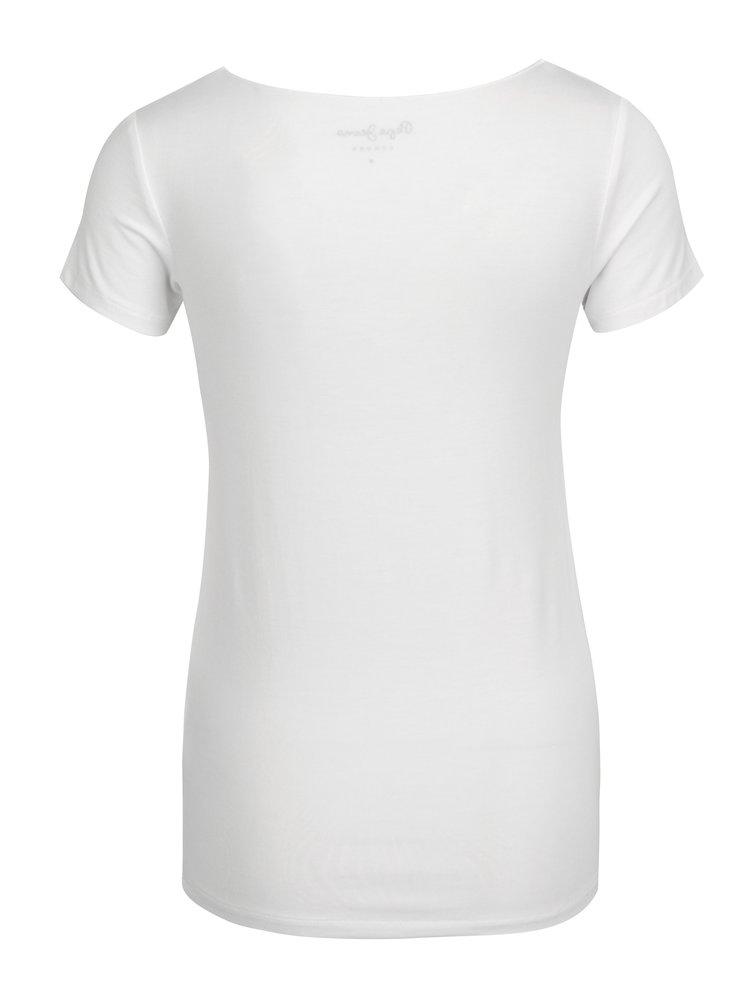 Bílé dámské tričko s potiskem Pepe Jeans Violeta