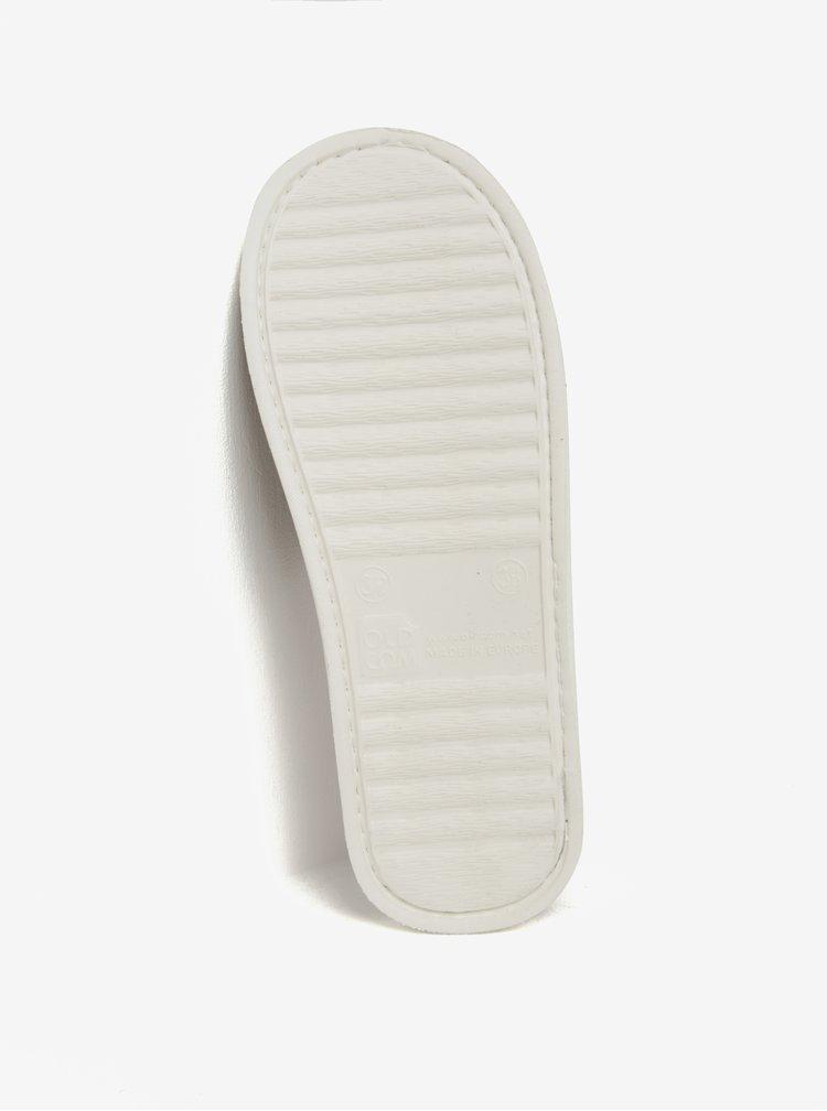 Krémovo-hnědé vzorované papuče Oldcom Luxhome