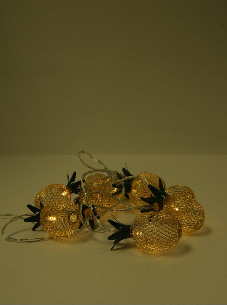 Instalatie de lumini galben&verde cu ananas BUTLERS