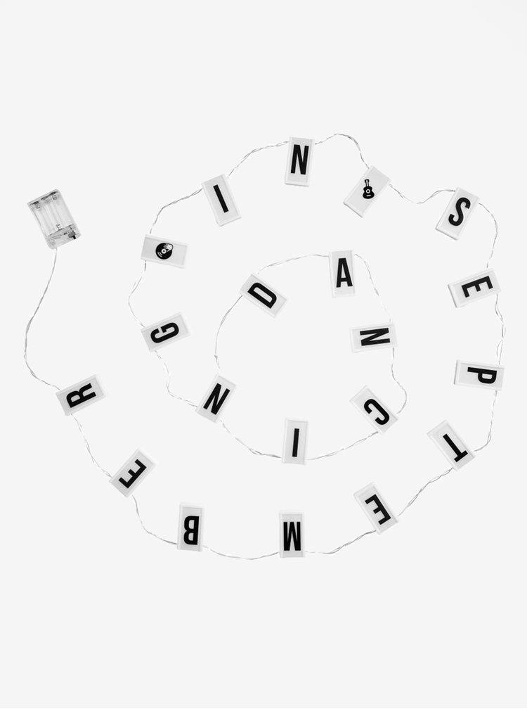 Instalatie de lumini alba cu litere  BUTLERS