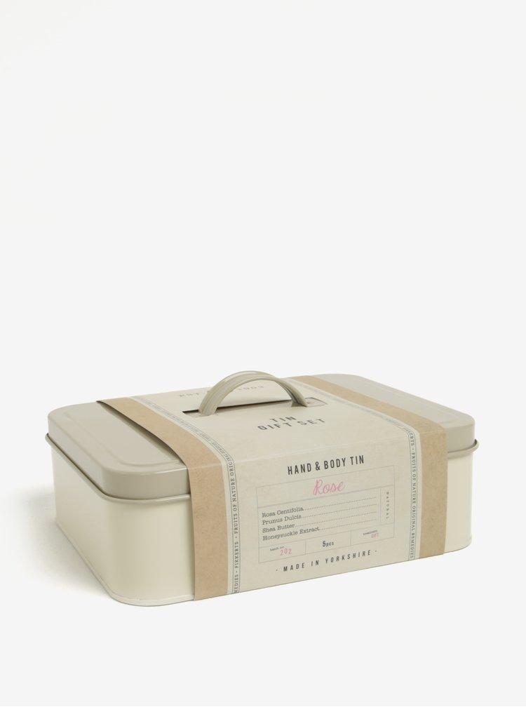 Dárková kosmetická sada v plechovém boxu Fikkerts Růže