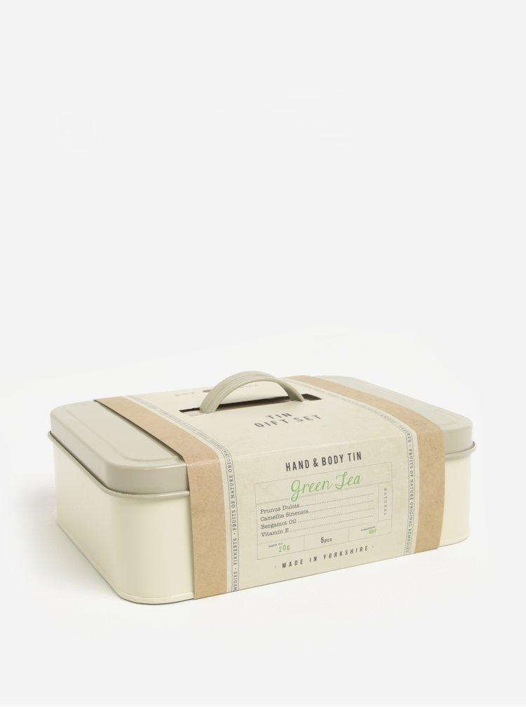 Dárková kosmetická sada v plechovém boxu Fikkerts Zelený čaj