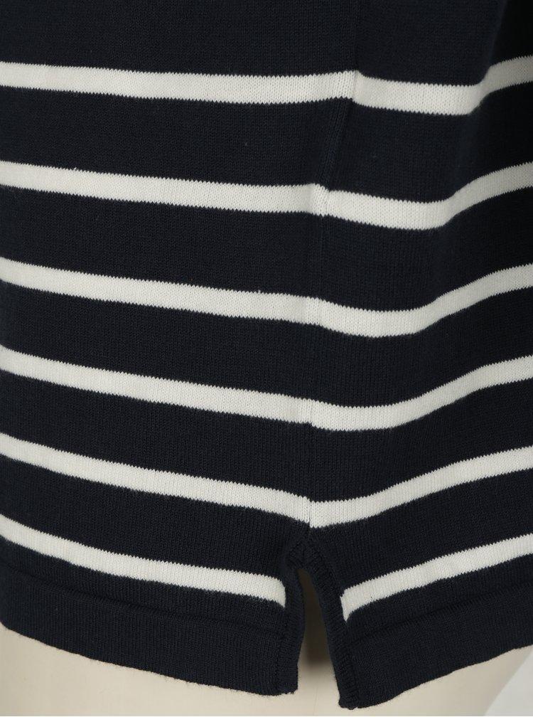 Krémovo-modrý pruhovaný sveter VILA Strike