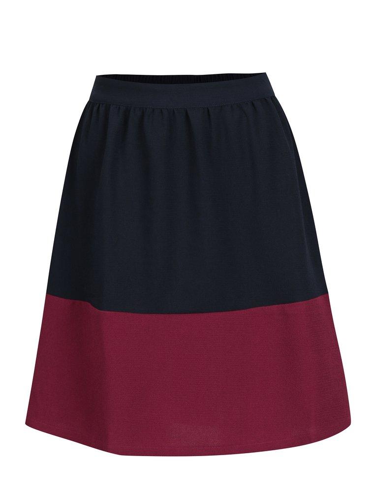Vínovo-modrá sukně VILA Collina