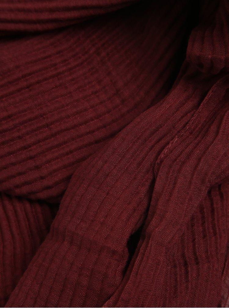 Vínový žebrovaný šátek ZOOT