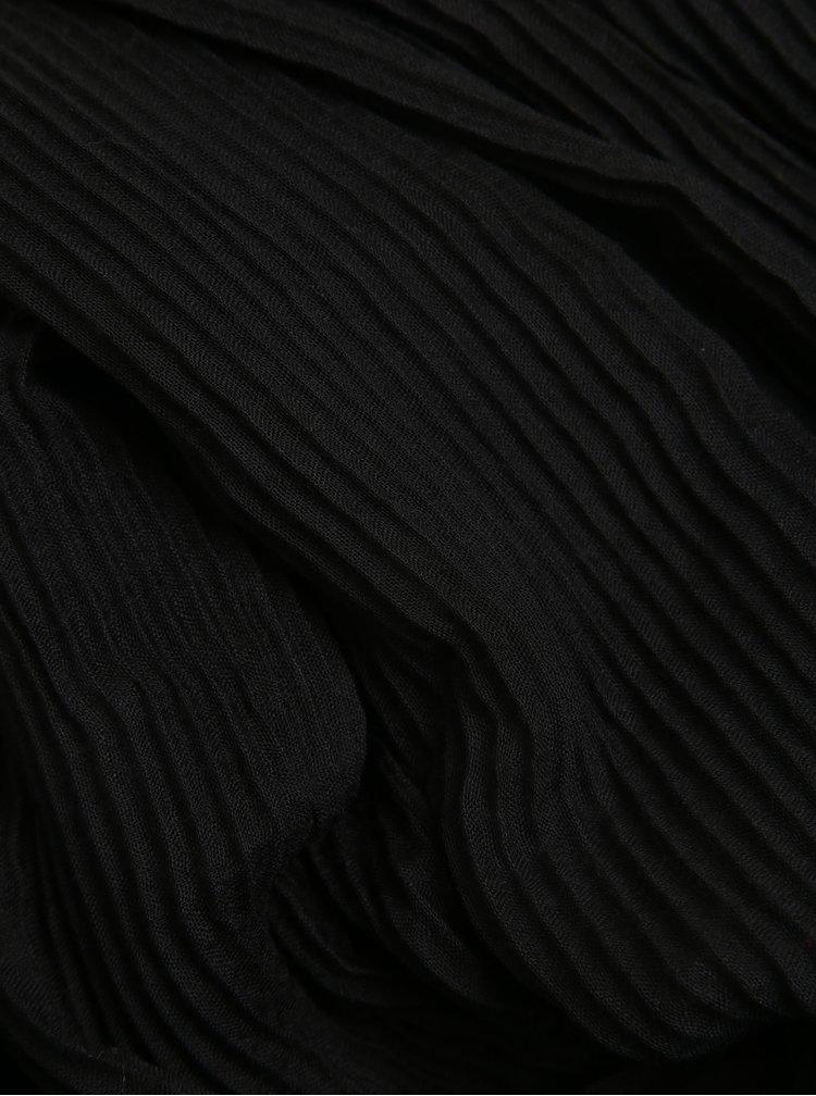 Černý žebrovaný šátek ZOOT
