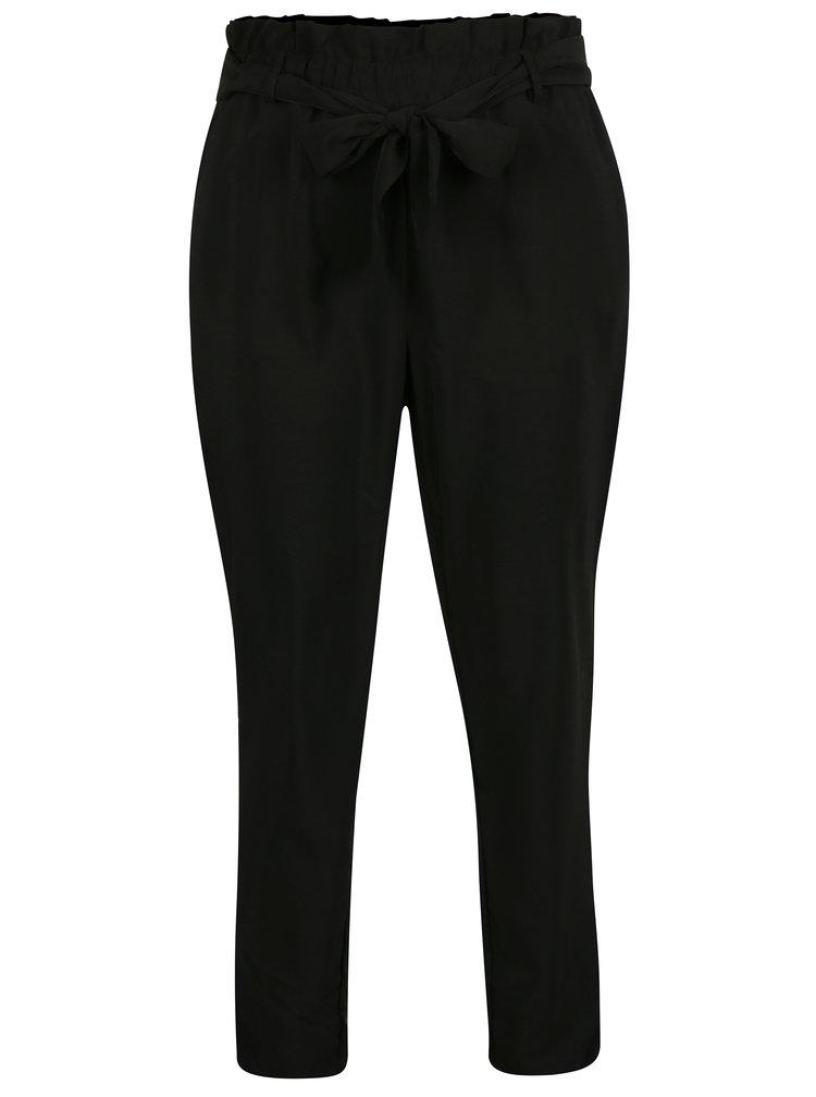Černé kalhoty s páskem VILA Elmine