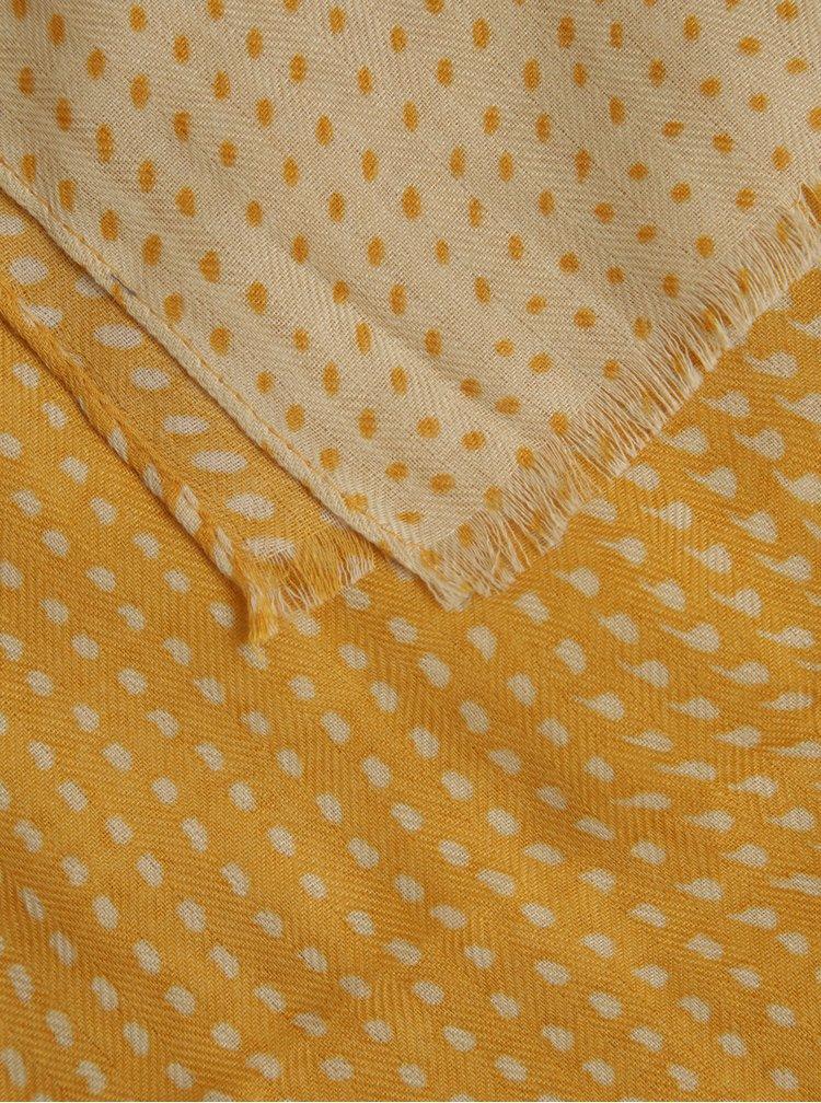 Žlutý vzorovaný šátek ZOOT