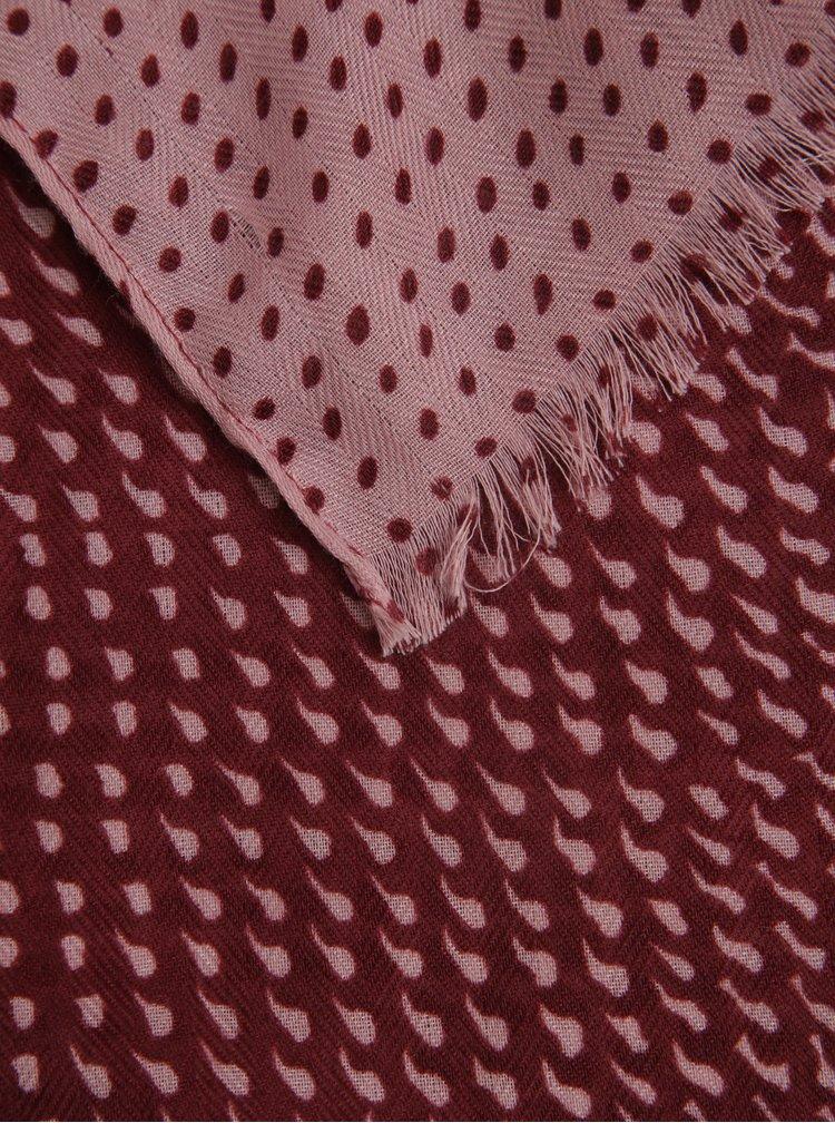 Vínový vzorovaný šátek ZOOT