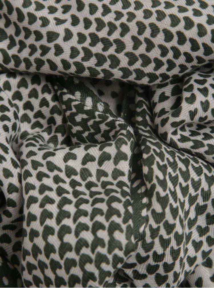 Tmavě zelený vzorovaný šátek ZOOT