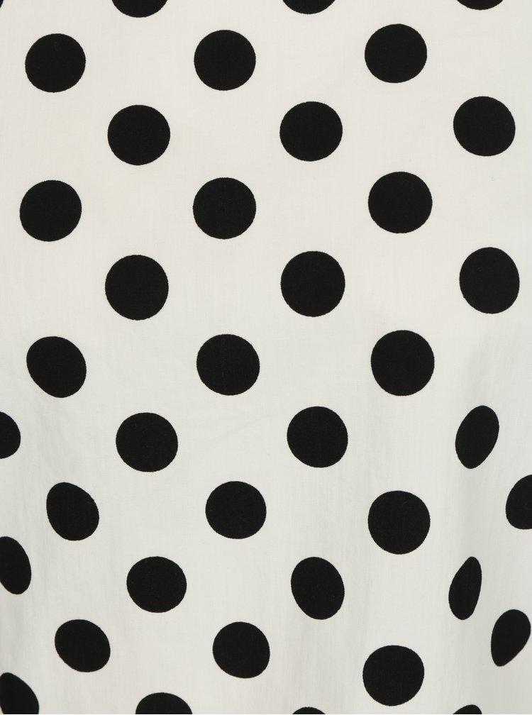 Černo-bílá puntíkovaná halenka Miss Selfridge