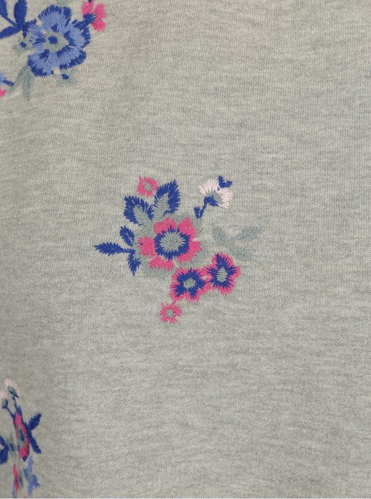 Šedá krátká květovaná mikina Miss Selfridge Petites